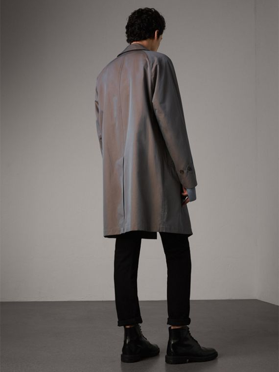 The Camden Car Coat in Lilac Grey - Men | Burberry Australia - cell image 2