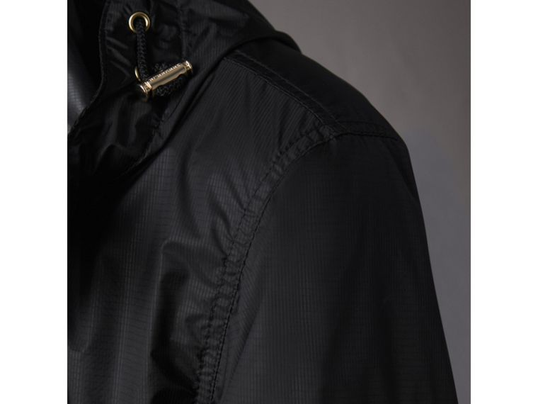 Hooded Super-lightweight Jacket in Black - Men | Burberry - cell image 1