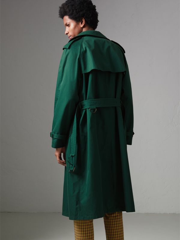 Gun-flap Detail Cotton Gabardine Trench Coat in Deep Veridian Green - Men | Burberry - cell image 2