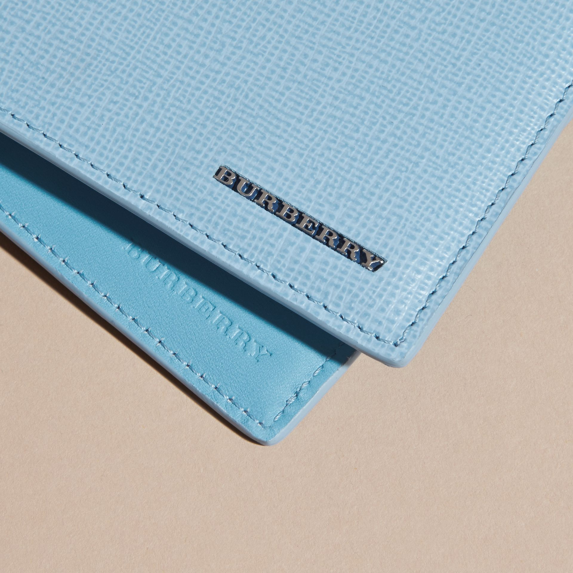 London Leather Folding Wallet Powder Blue - gallery image 6