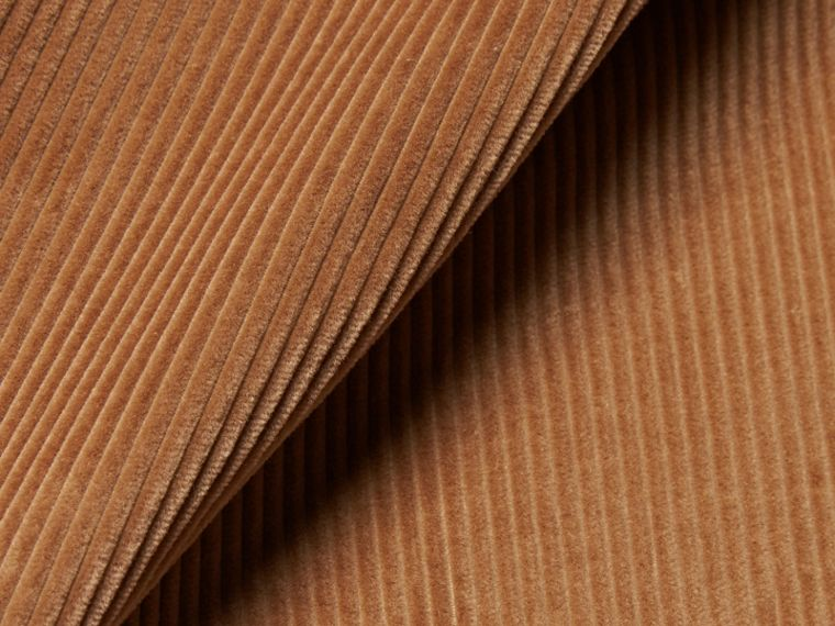 Camel Slim Fit Cotton Corduroy Trousers Camel - cell image 1
