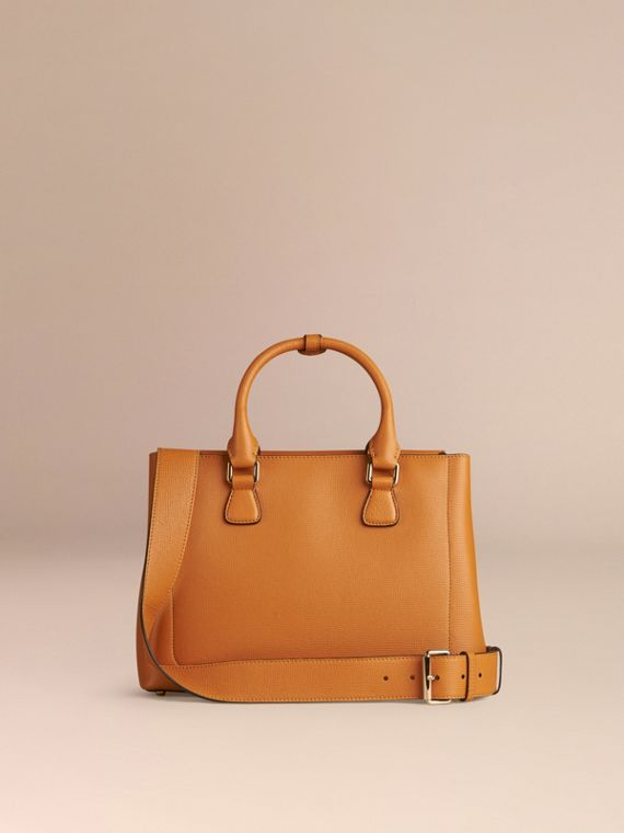 Cognac Borsa The Saddle media in pelle a grana doppiata Cognac - cell image 3