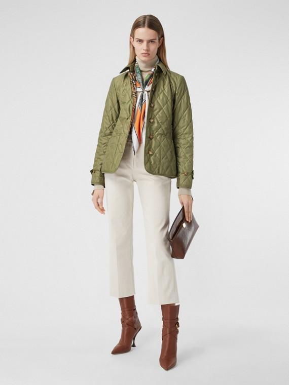 菱形絎縫溫度調節外套 (橄欖綠)