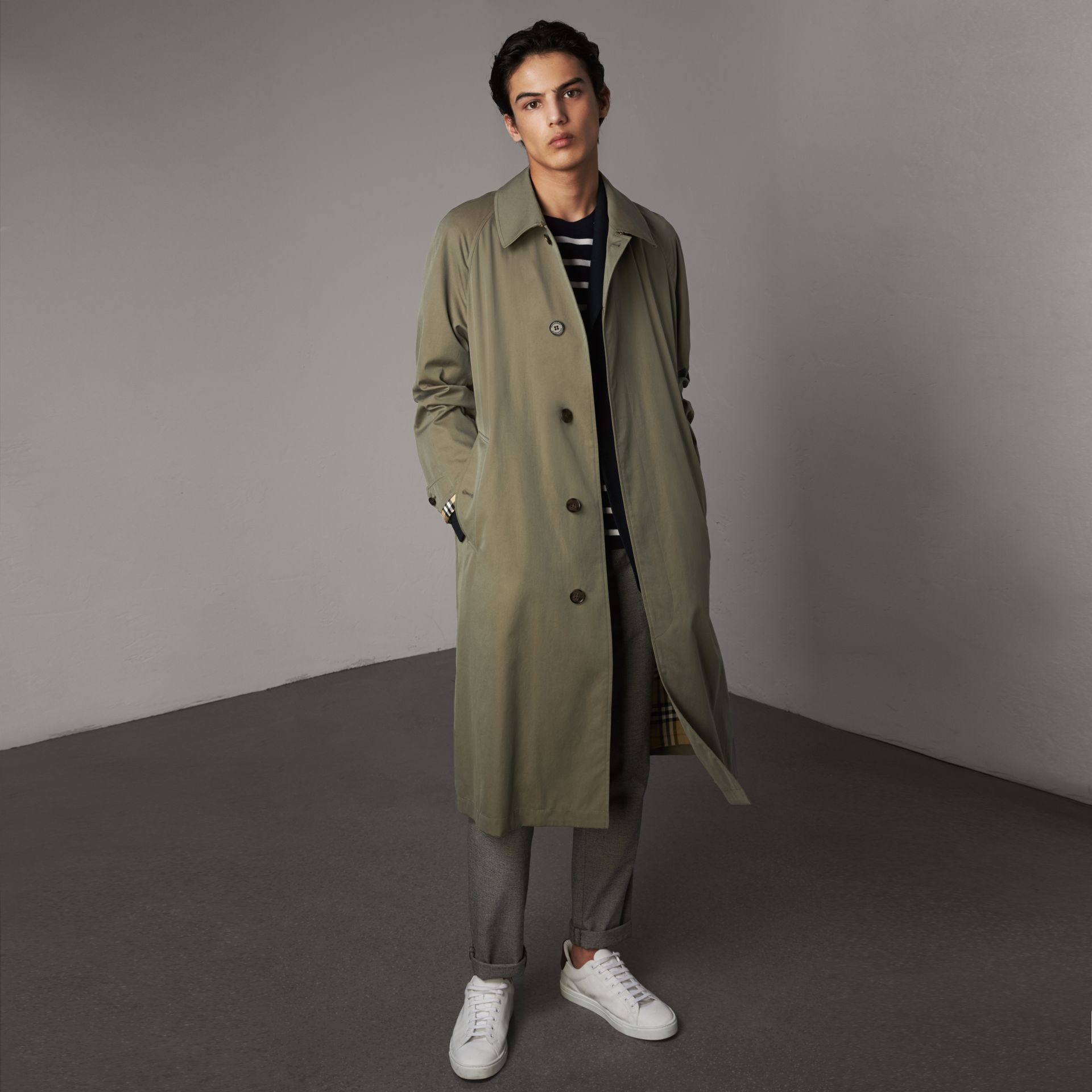 The Brighton Car Coat in Chalk Green - Men | Burberry Singapore - gallery image 0