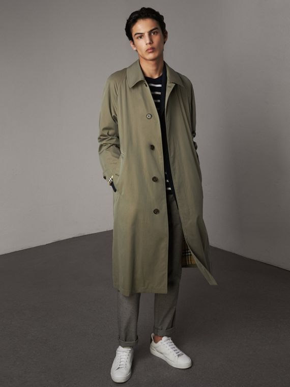 The Brighton – Car Coat extra-long (Vert Craie)