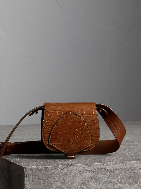 The Pocket Satchel in Alligator in Tan