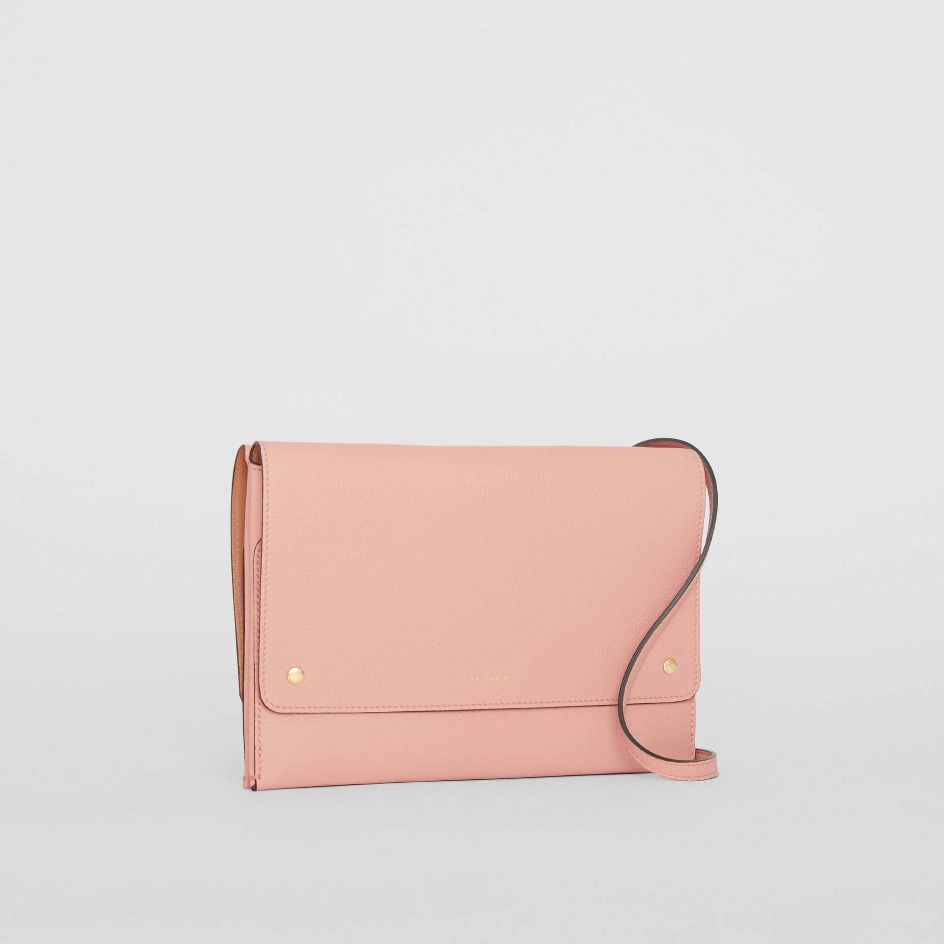 Leather Envelope Crossbody Bag in Ash Rose - Women | Burberry - gallery image 6