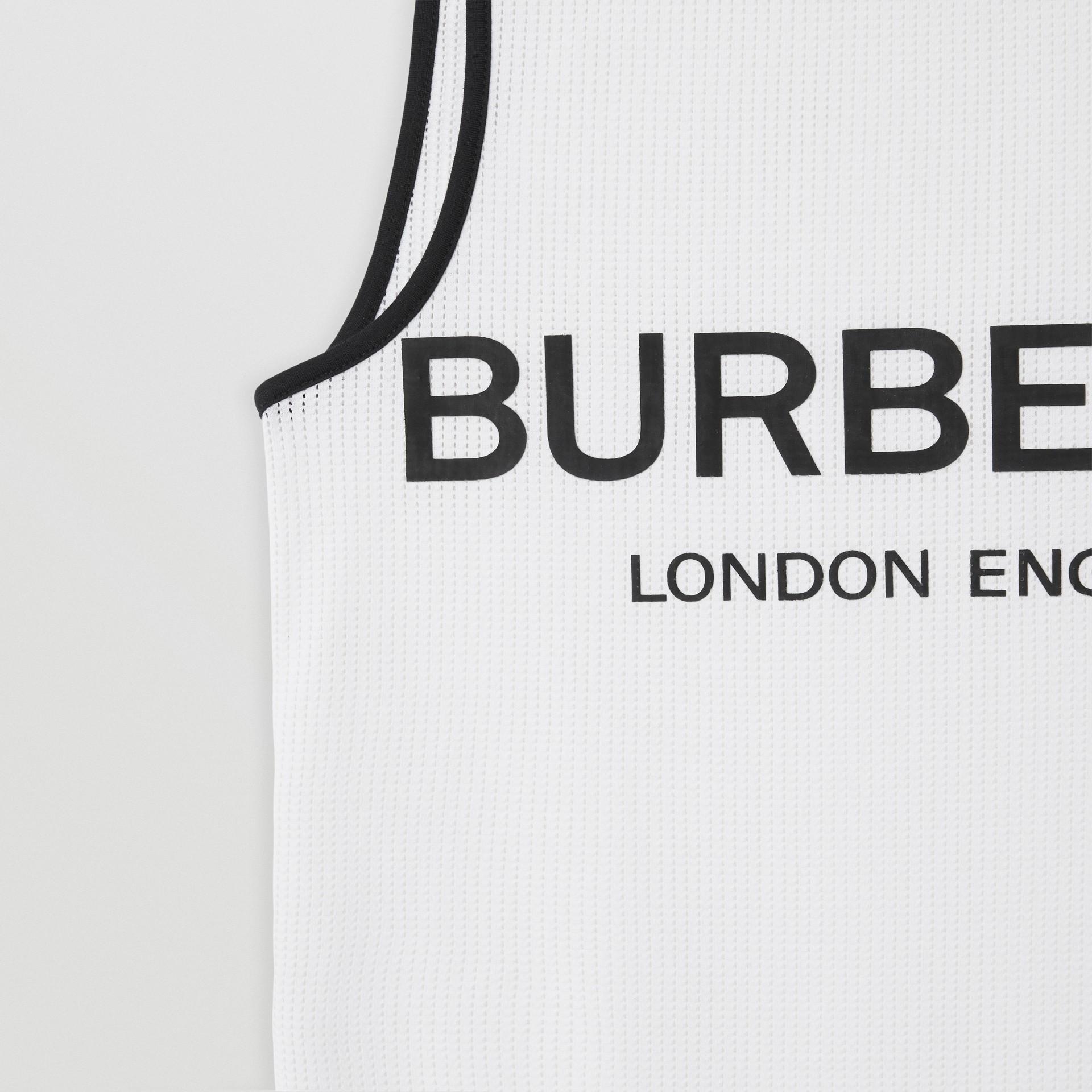 Regata de malha com estampa de logotipo (Branco) | Burberry - galeria de imagens 4