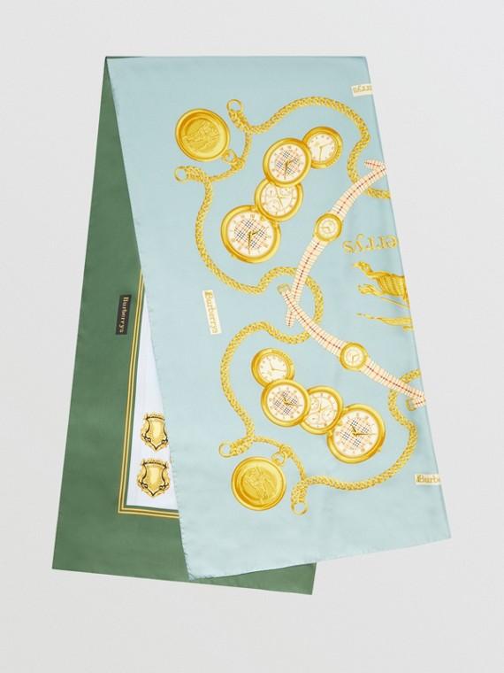 Archive Scarf Print Silk Scarf in Multicolour