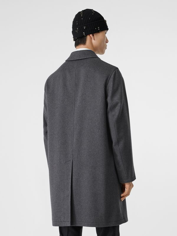 Cashmere Car Coat in Pewter Melange - Men | Burberry - cell image 2