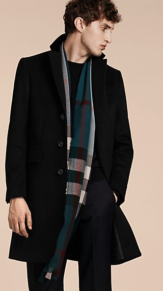 Velvet Collar Wool Cashmere Coat