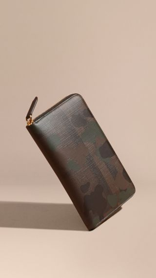 Camouflage and London Check Ziparound Wallet