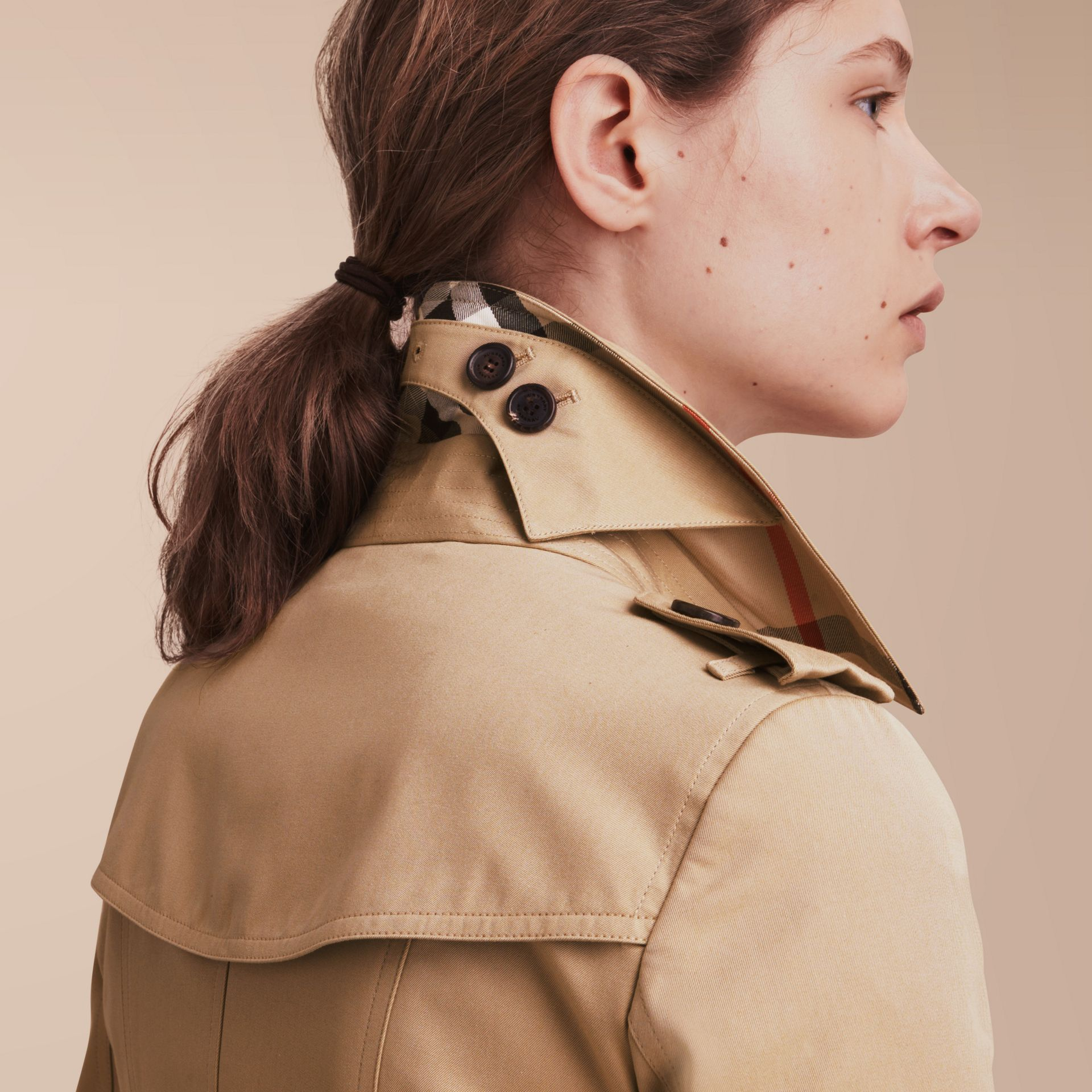 The Chelsea – Long Heritage Trench Coat in Honey - gallery image 5