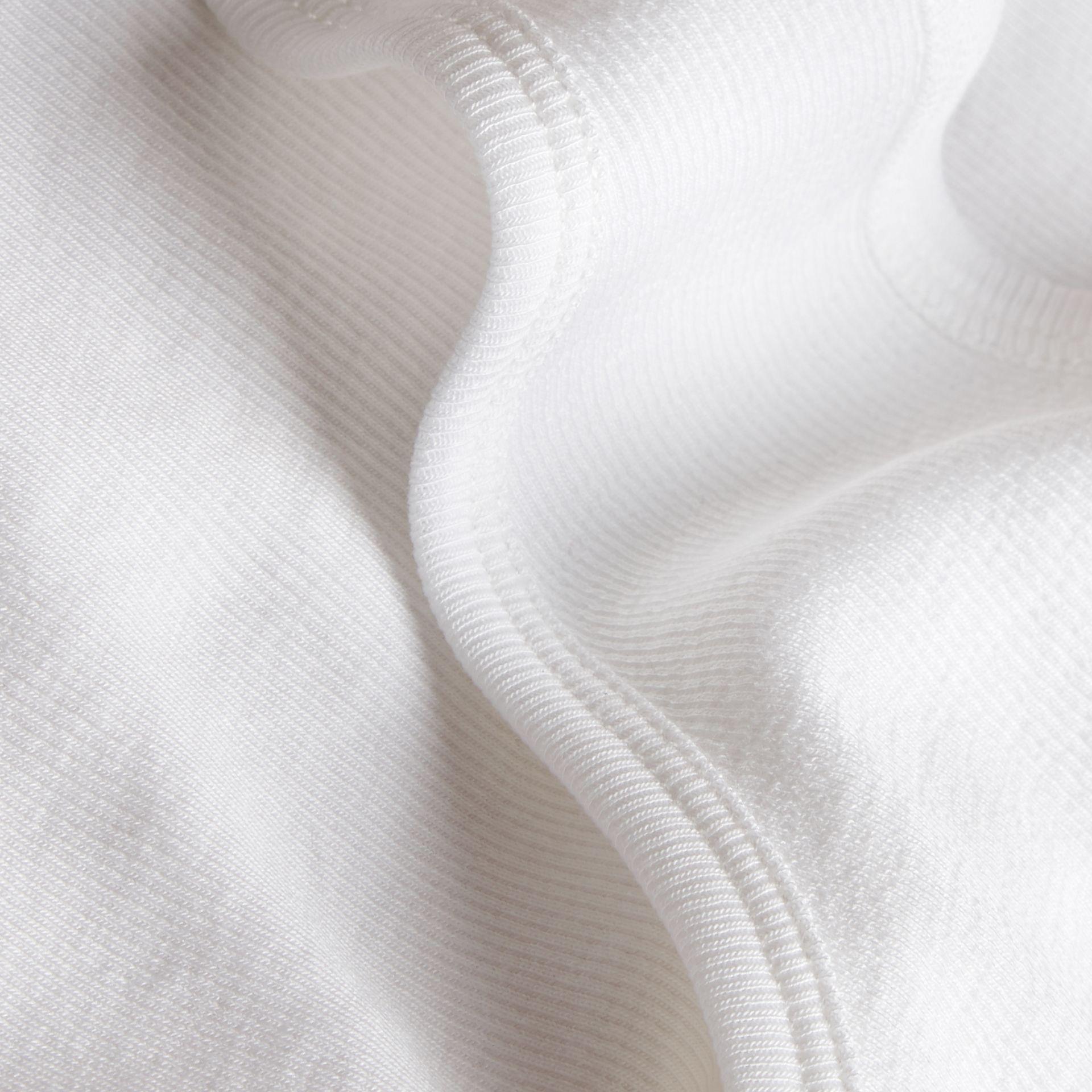 Stretch Cotton Lyocell Vest White - gallery image 2