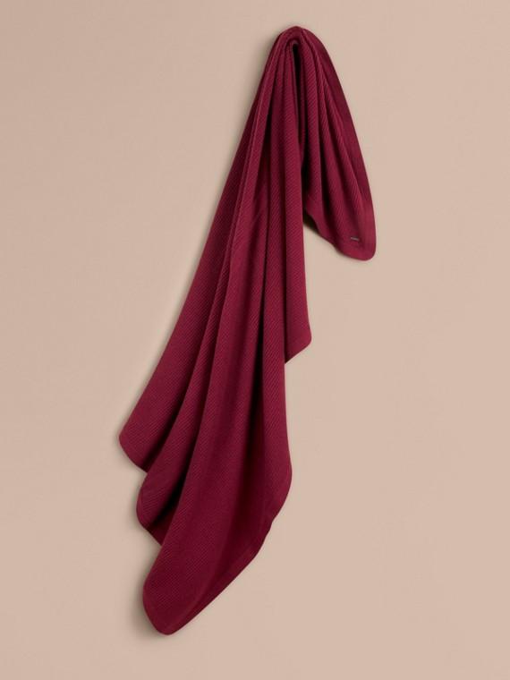 Rib Cashmere Blanket Deep Claret