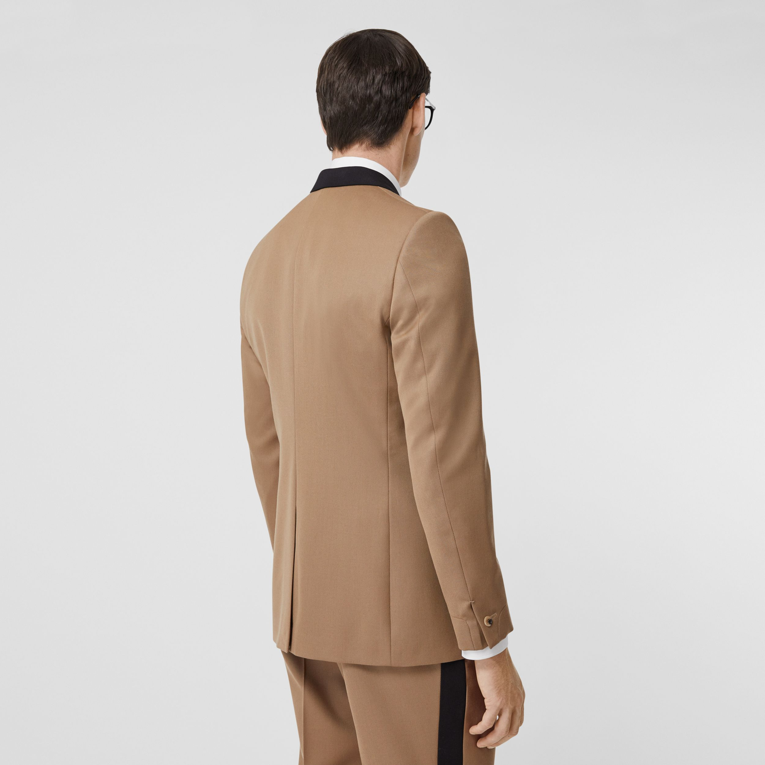Classic Fit Two-tone Wool Tailored Jacket in Camel - Men | Burberry - 3