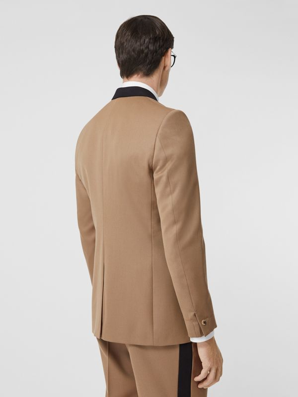 Classic Fit Two-tone Wool Tailored Jacket in Camel - Men | Burberry United Kingdom - cell image 2