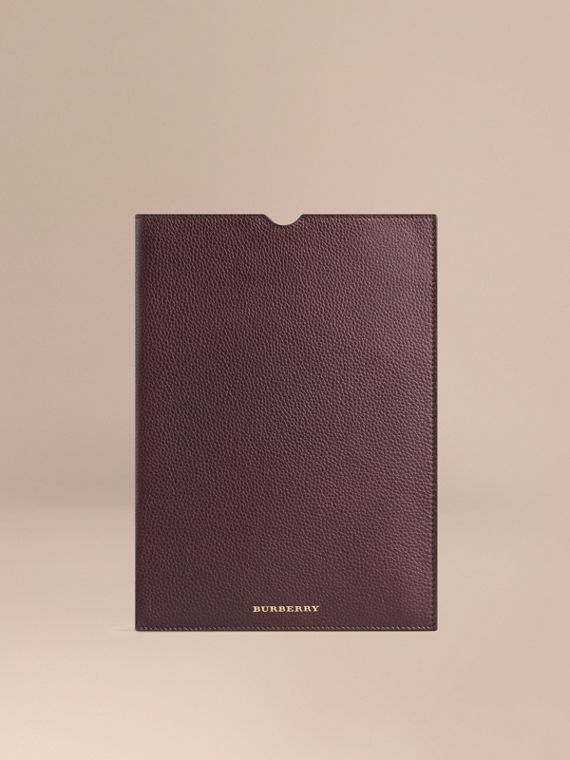 Grainy Leather iPad Case Ebony Red