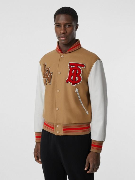 Куртка «пилот» с контрастными рукавами (Медовый)