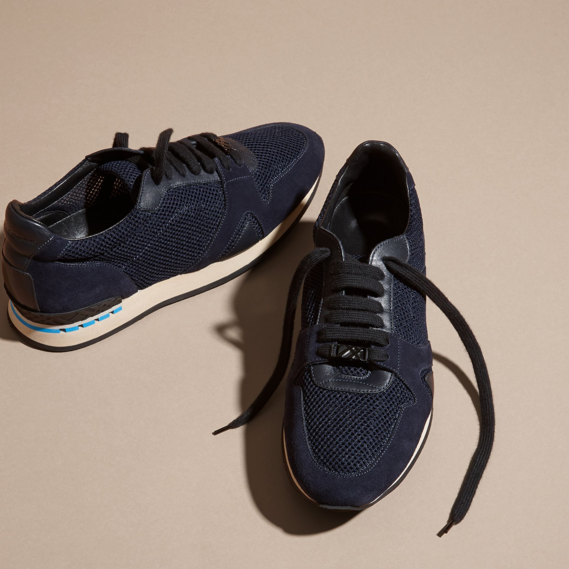 Navy The Field Sneaker in Suede and Mesh Navy - gallery image 3