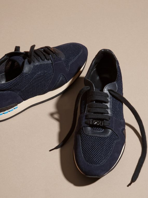 Navy The Field Sneaker in Suede and Mesh Navy - cell image 2