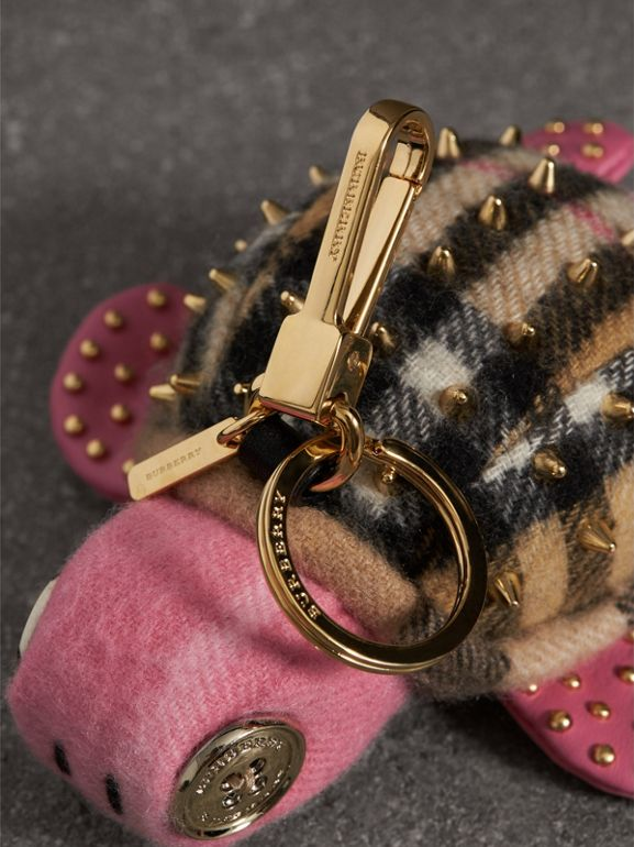 Beatrice The Turtle Cashmere Charm in Pink/antique Yellow | Burberry - cell image 1