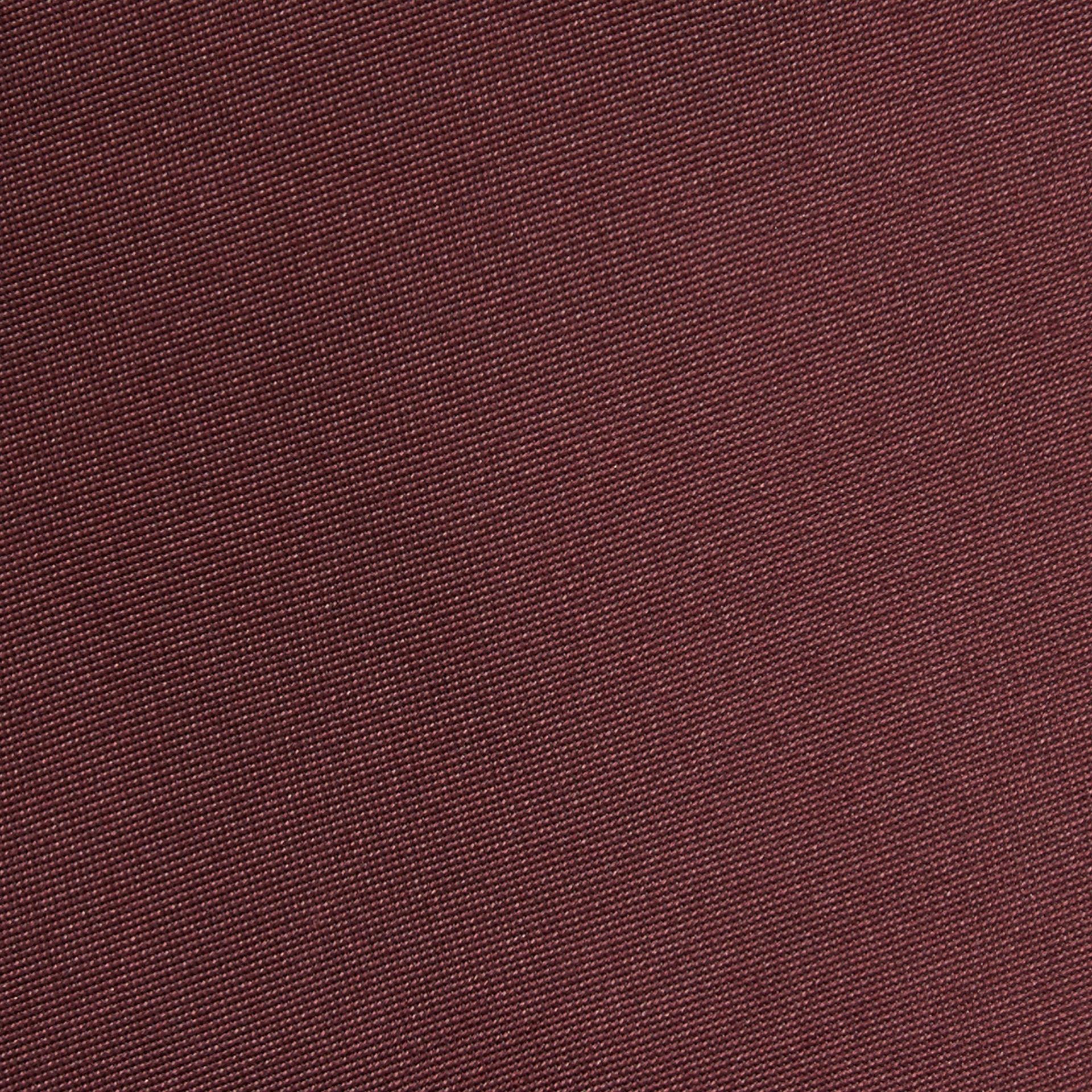 Dark burgundy Classic Cut Silk Tie - gallery image 2
