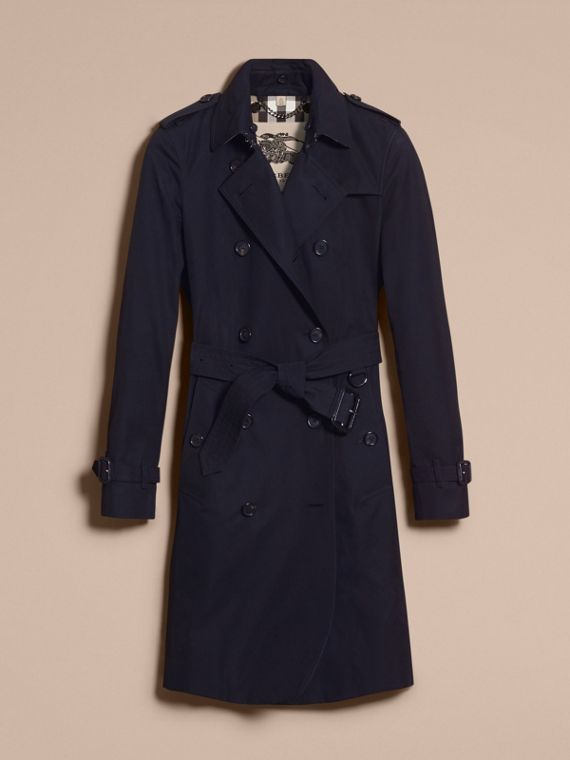 Navy The Kensington – Long Heritage Trench Coat Navy - cell image 3