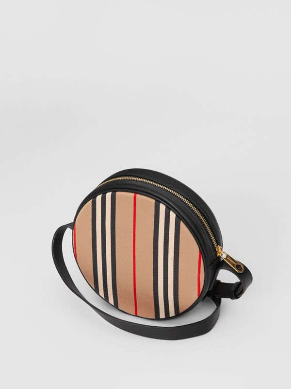 Icon Stripe Cotton Crossbody Bag in Honey/black - Children | Burberry - cell image 2