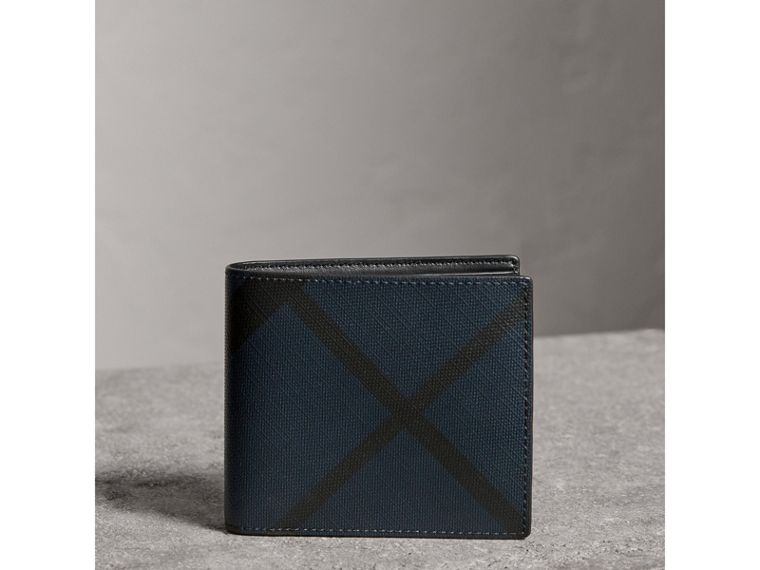 London Check ID Wallet in Navy/black - Men | Burberry United Kingdom - cell image 4