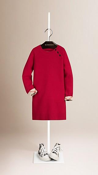 Check Detail Cashmere Dress