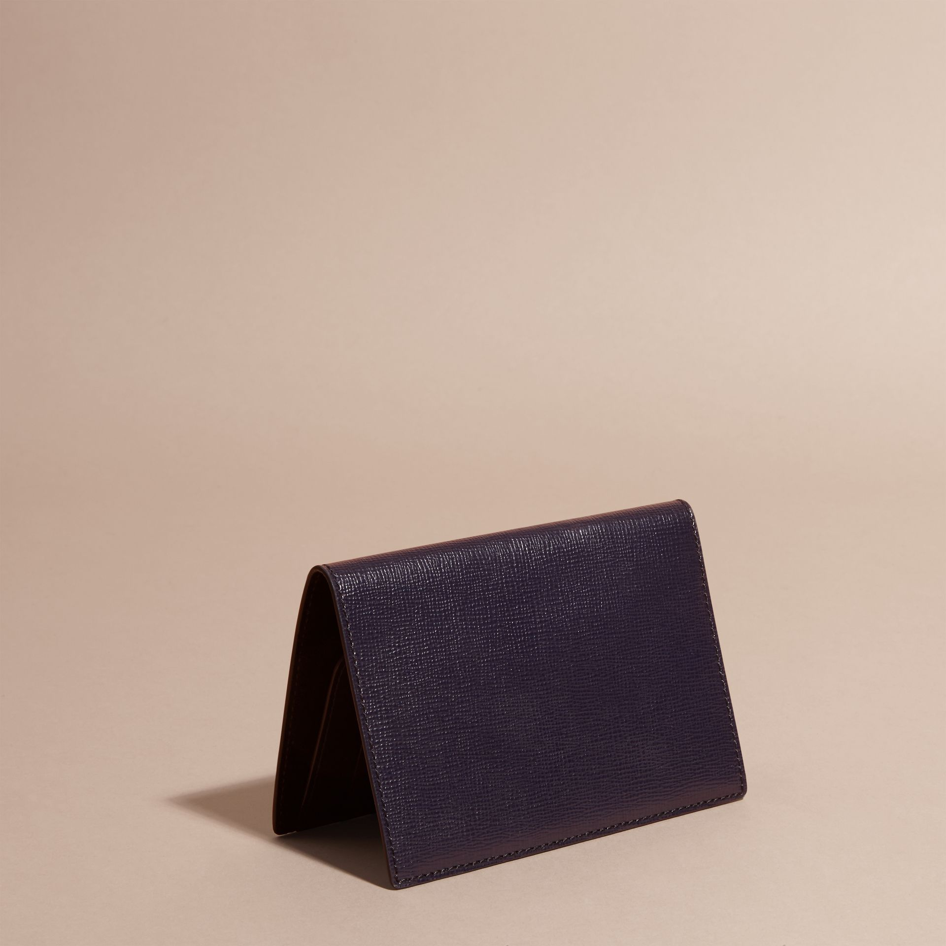 London Leather Passport and Card Holder in Dark Navy - Men | Burberry - gallery image 4
