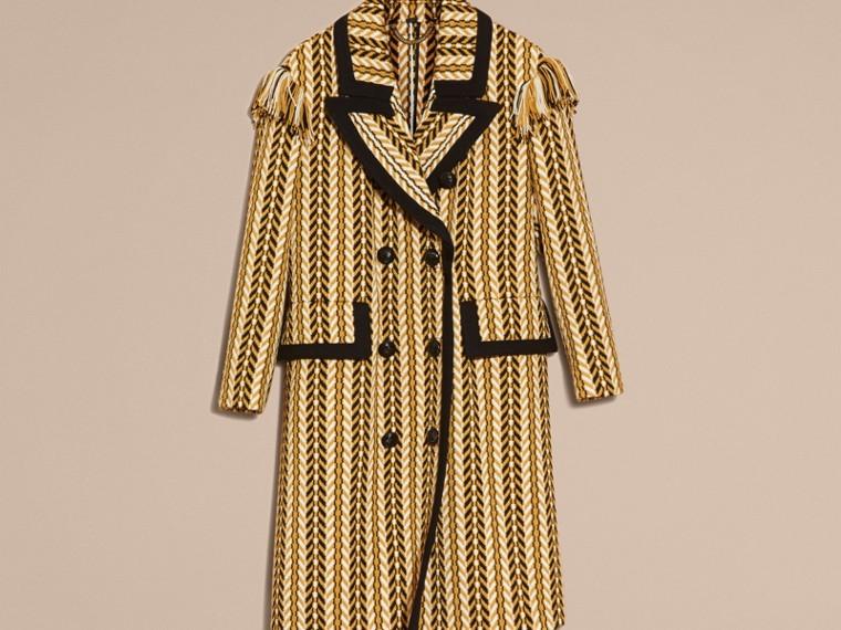 Giallo ocra Il cappotto frangiato - cell image 4