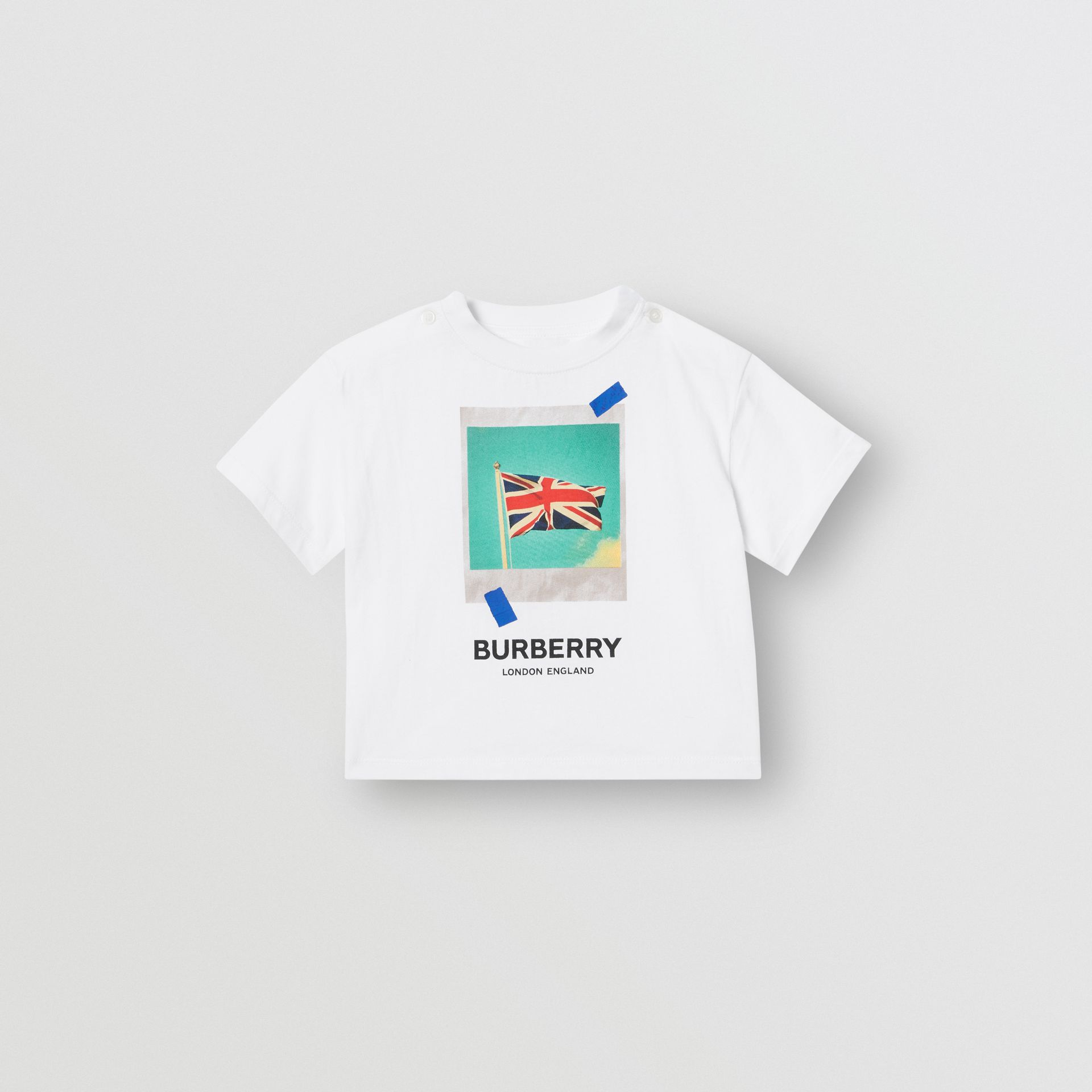 Polaroid Print Cotton T-shirt in White - Children | Burberry - gallery image 0