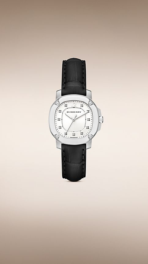 Black The Britain BBY1806 34mm Diamond Indexes - Image 1