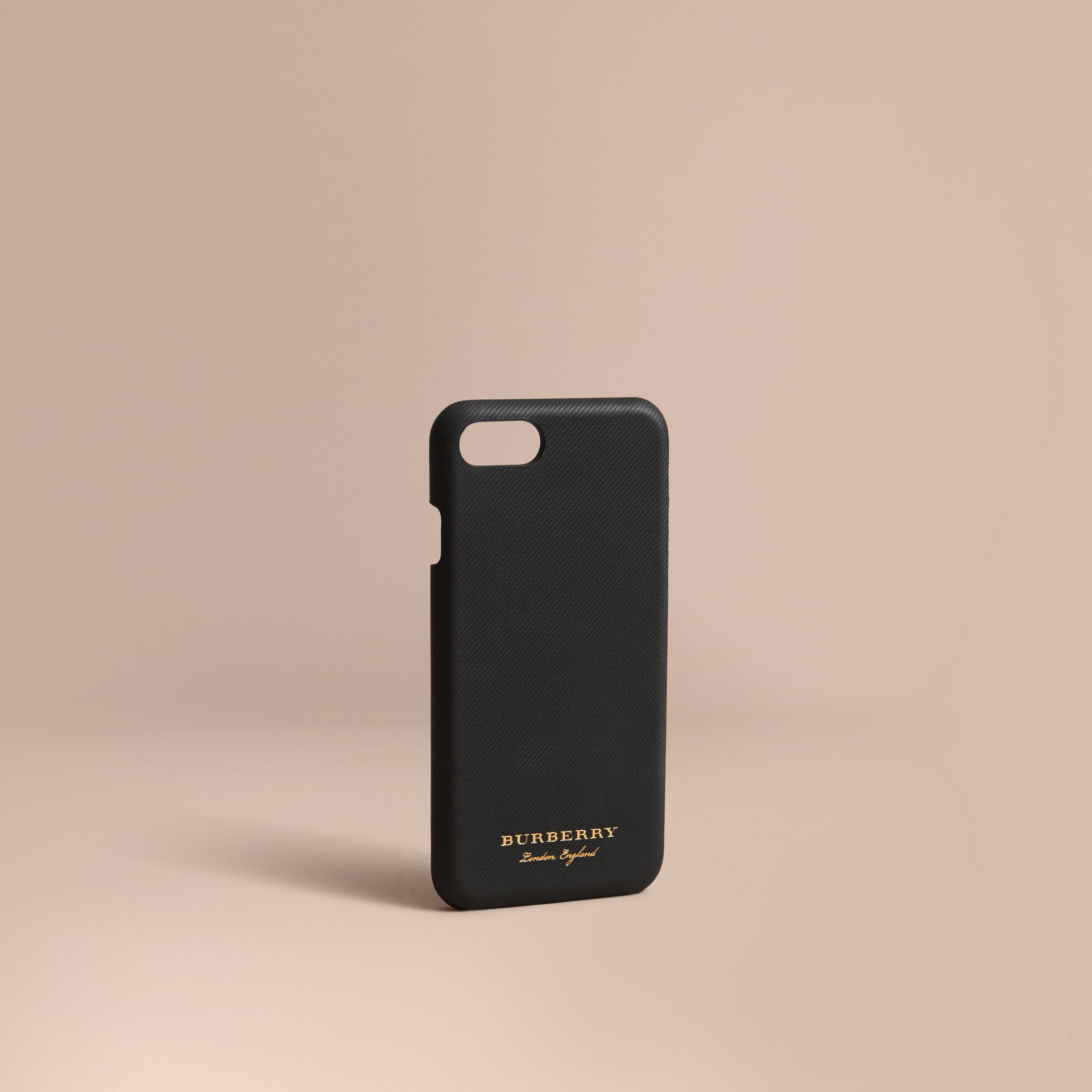 Trench Leather iPhone 7 Case in Black | Burberry United States - gallery image 1