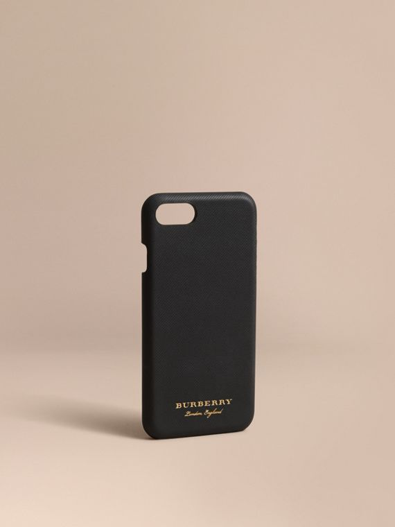 Funda para iPhone 7 en piel Trench (Negro)