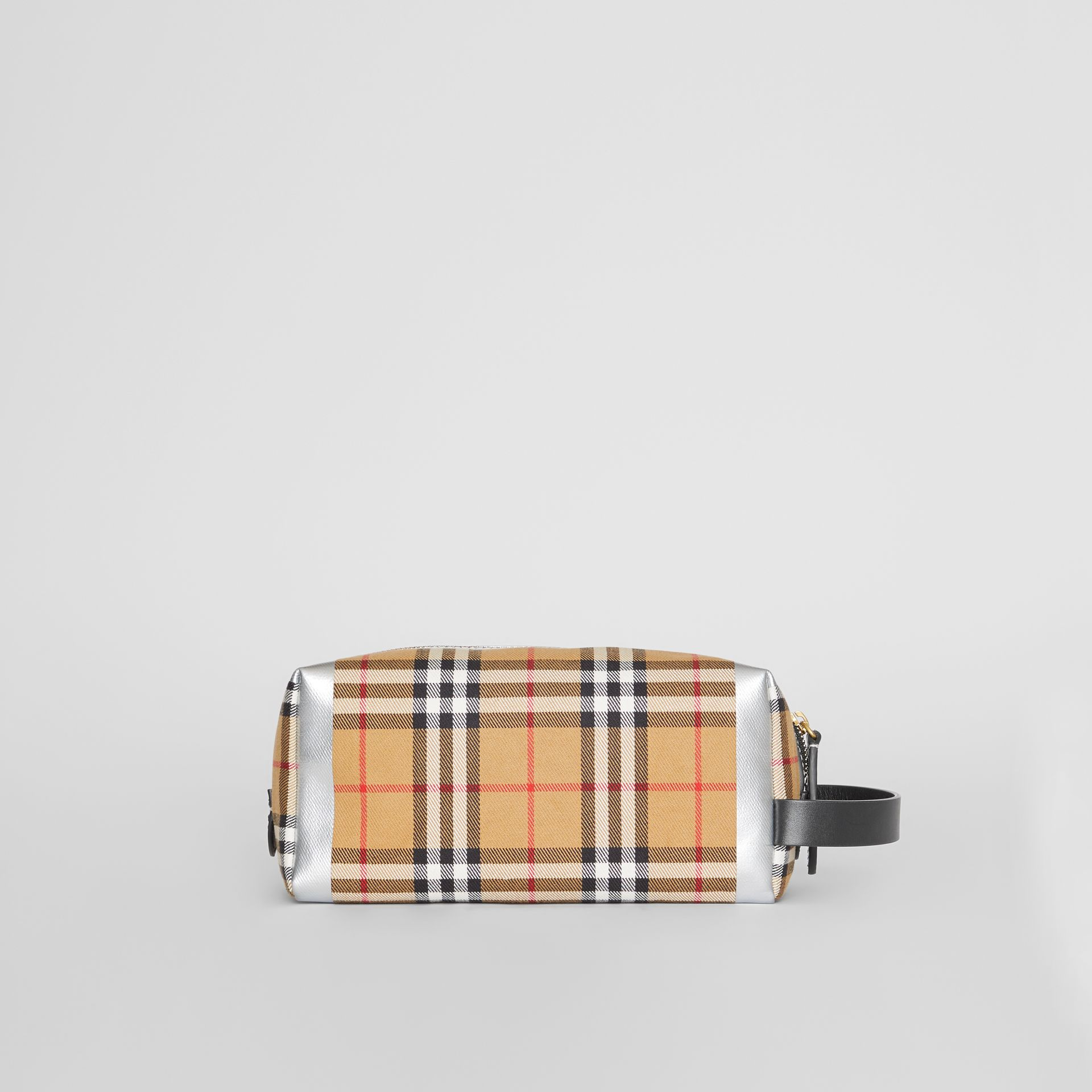 Metallic Detail Vintage Check Pouch in Black/silver | Burberry Australia - gallery image 2