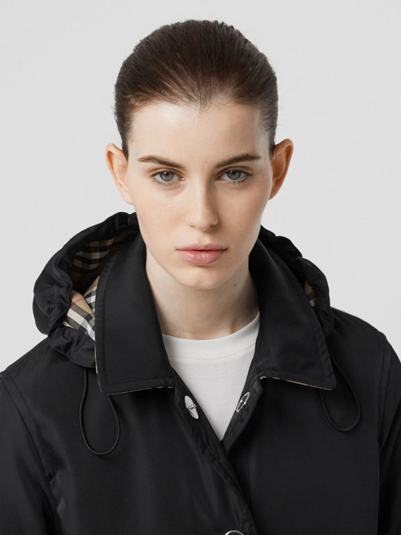 Detachable Hood ECONYL® Jacket in Black - Women | Burberry - cell image 1