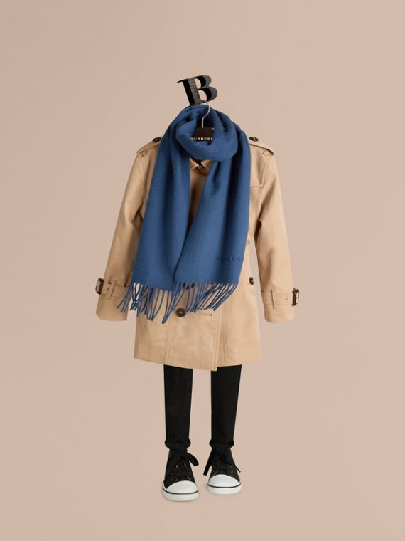 Cadet blue The Mini Classic Cashmere Scarf Cadet Blue - cell image 2