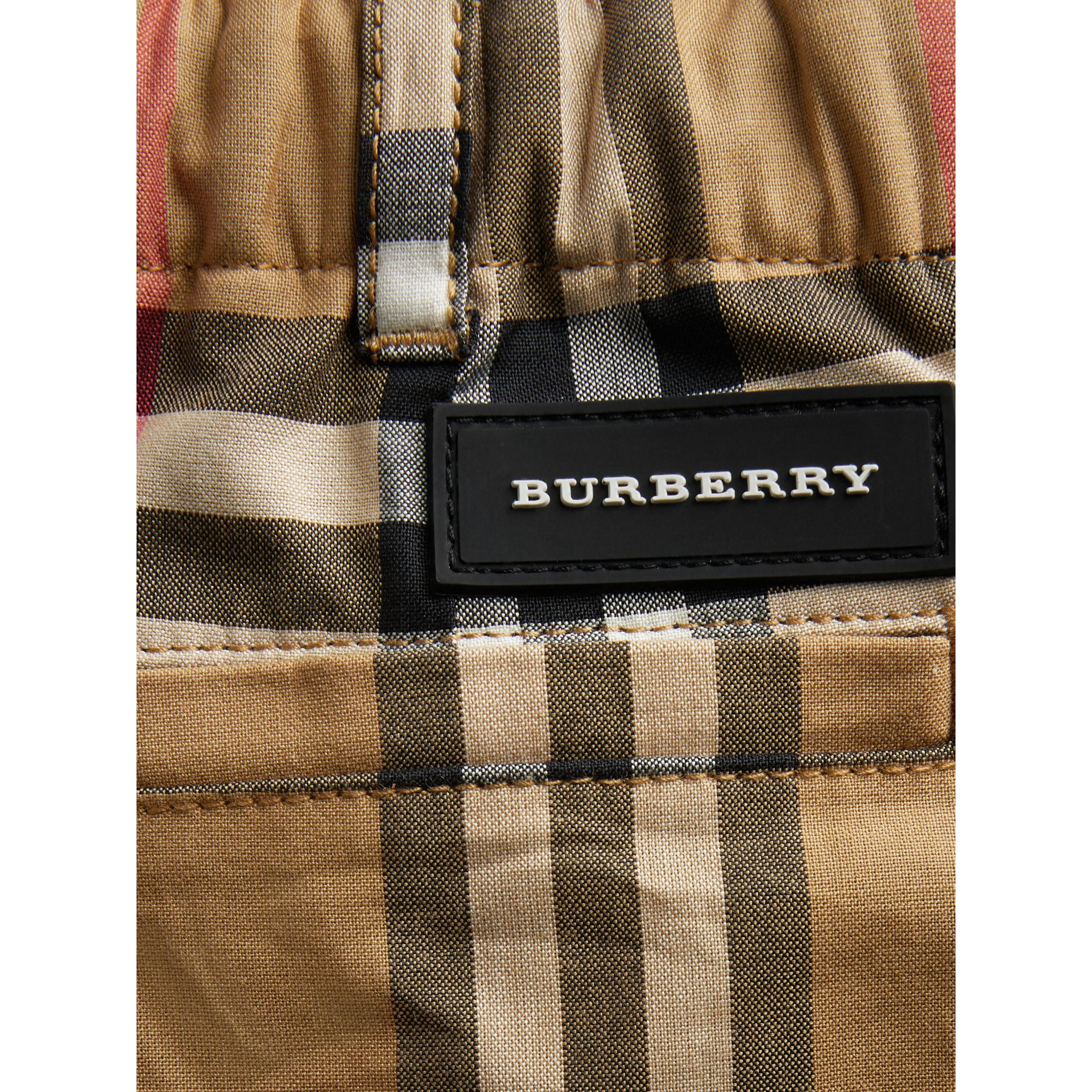 Vintage Check Cotton Tailored Shorts in Antique Yellow | Burberry United Kingdom - gallery image 1