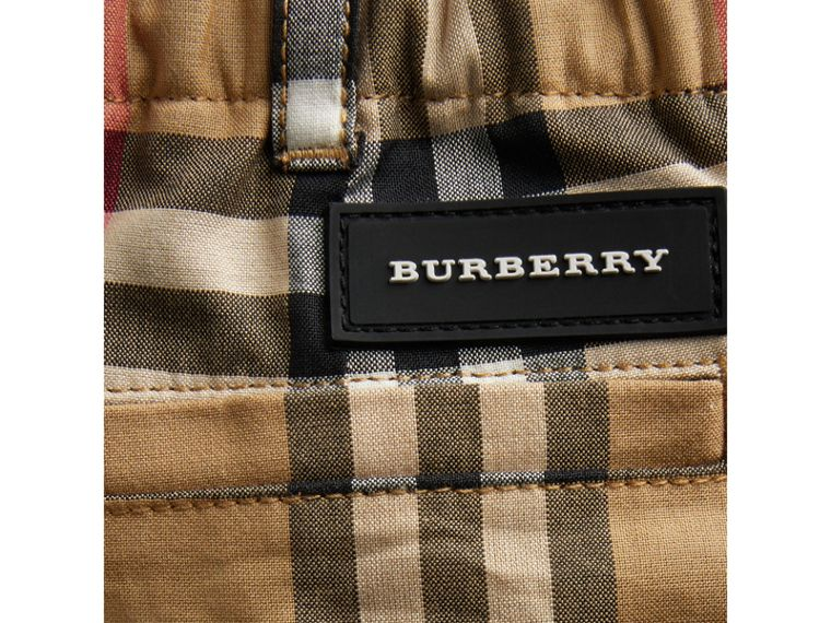 Vintage Check Cotton Tailored Shorts in Antique Yellow | Burberry - cell image 1