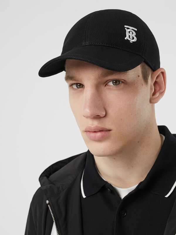 Monogram Motif Baseball Cap in Black | Burberry - cell image 3