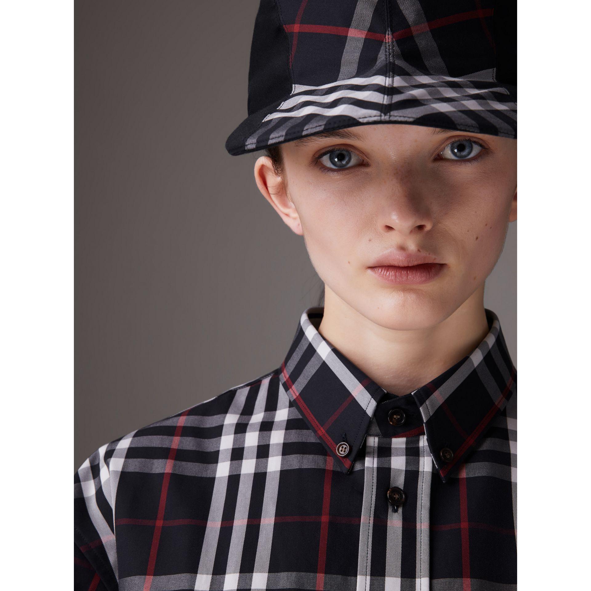 Gosha x Burberry Duckbill Cap in Navy - Men | Burberry - gallery image 3