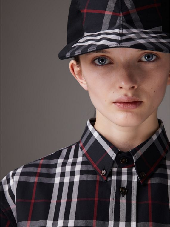 Gosha x Burberry Duckbill Cap in Navy | Burberry - cell image 3