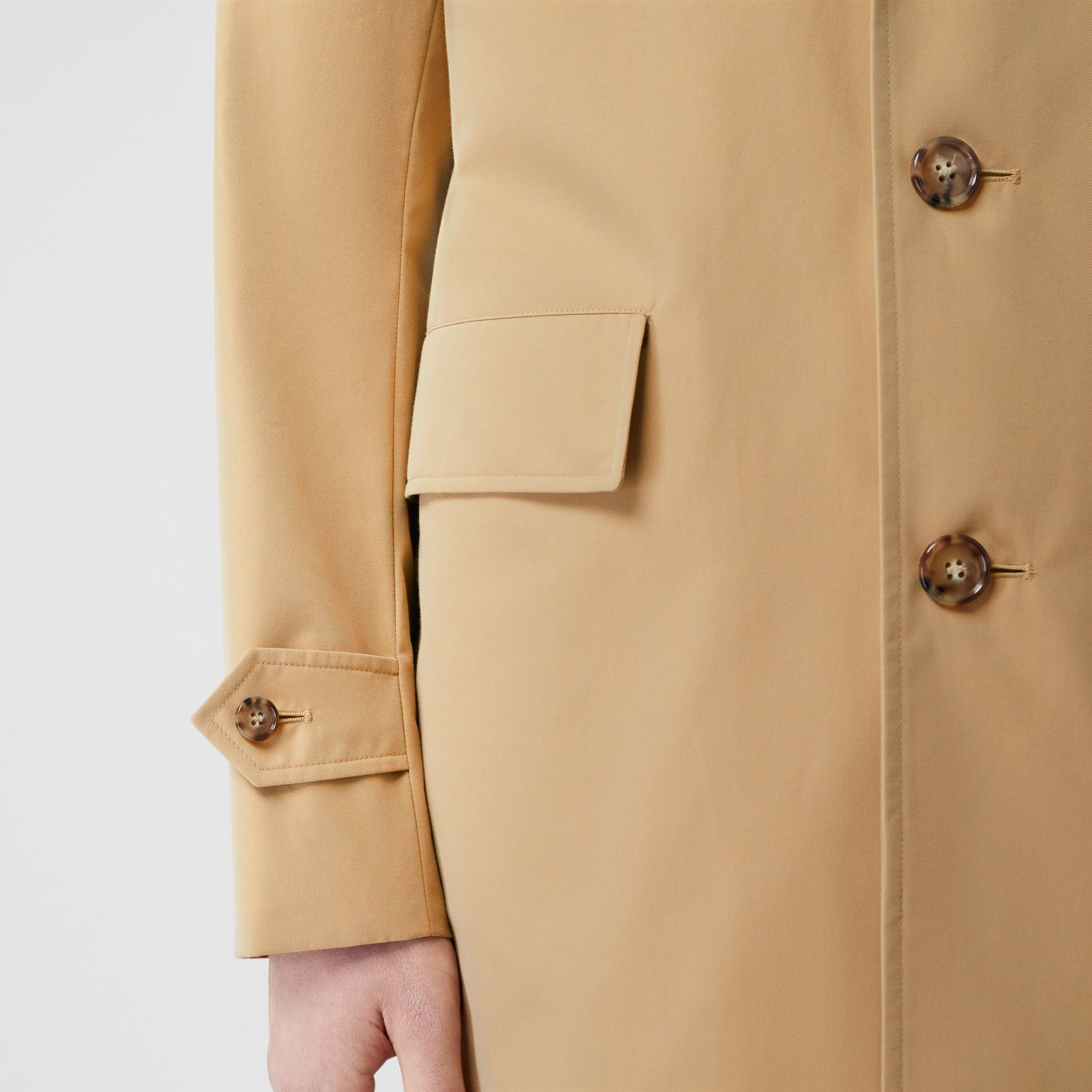 Cotton Gabardine Car Coat in Honey - Men | Burberry Hong Kong - gallery image 4