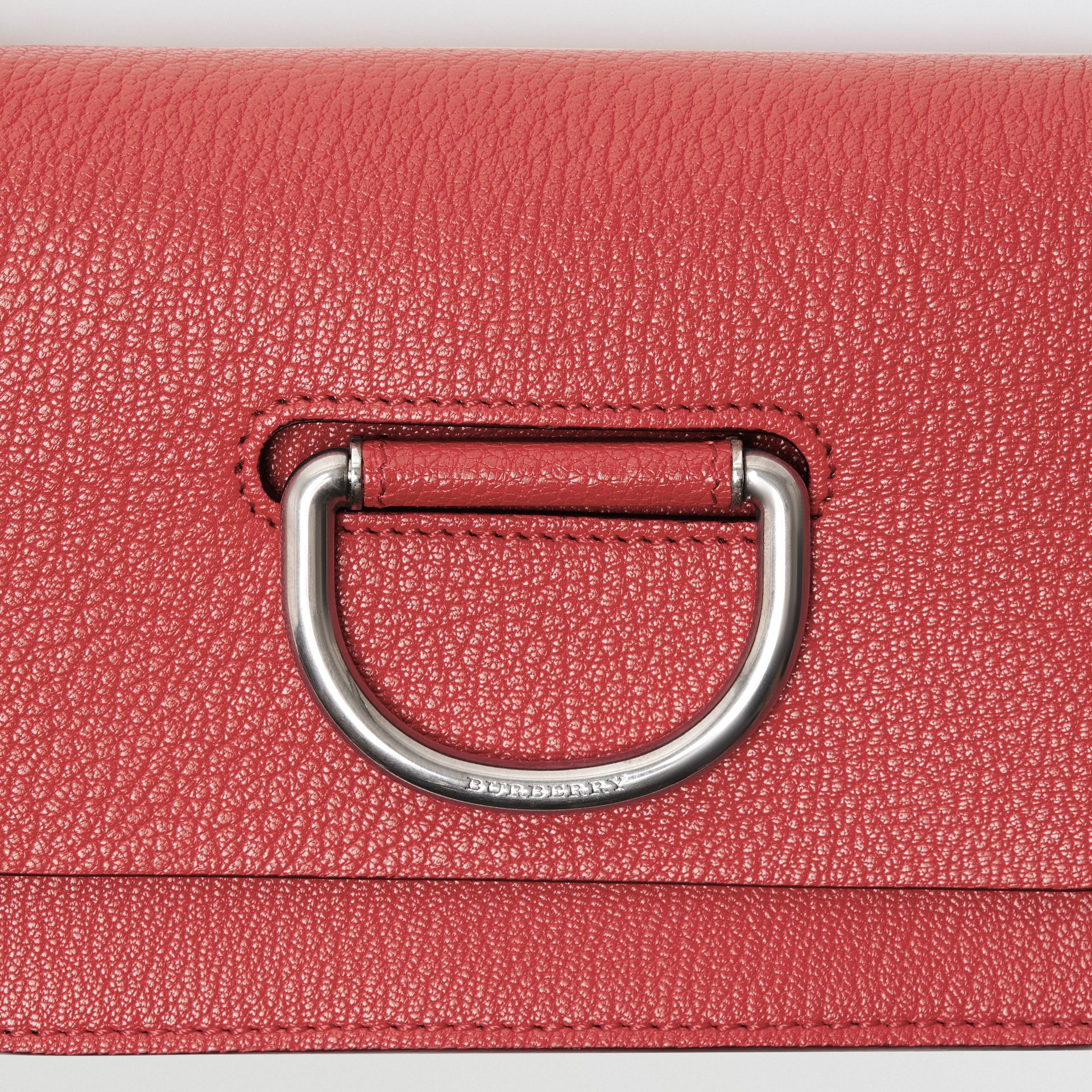 The Mini Leather D-ring Bag in Bright Coral Pink - Women | Burberry - gallery image 1
