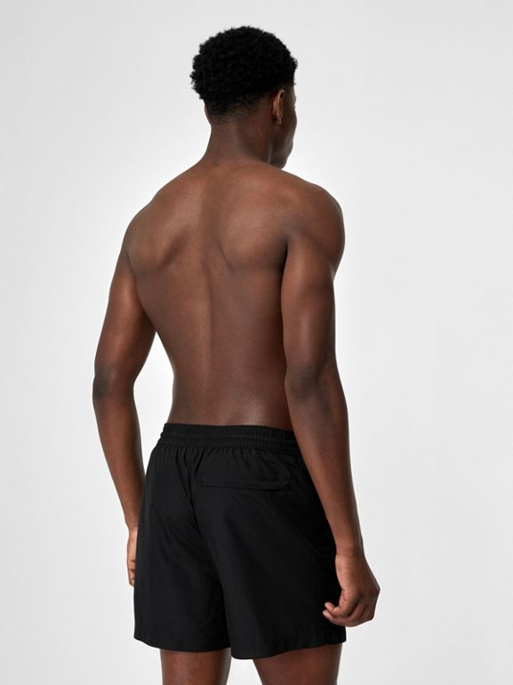 Logo Detail Drawcord Swim Shorts in Black - Men | Burberry - cell image 1
