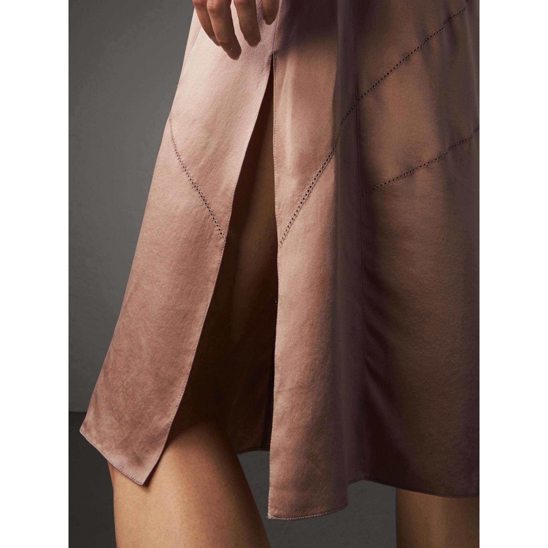 Silk Satin Tie-neck Dress - Women | Burberry - gallery image 4