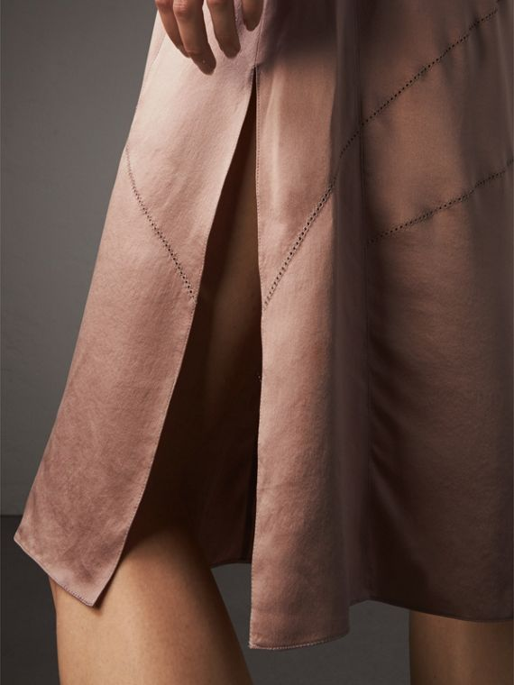 Silk Satin Tie-neck Dress - Women | Burberry - cell image 3